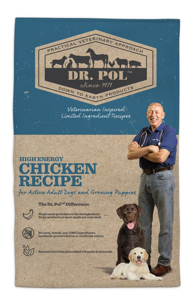 Dr. Pol High Energy Chicken Recipe for Active Dogs and Growing Puppies