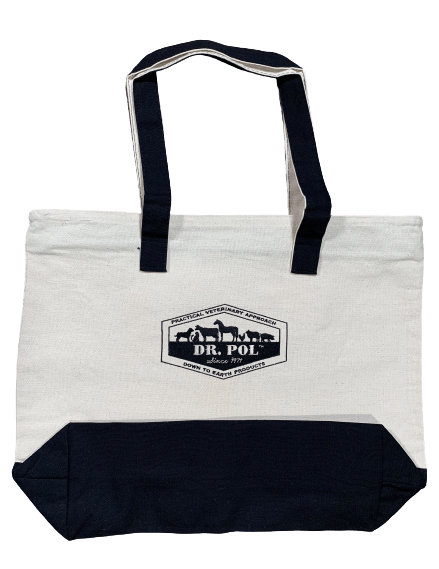 Dr Pol Embroidered Zippered Tote