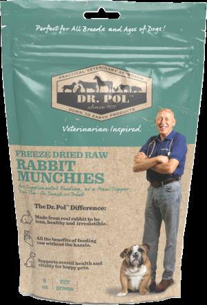 dr pol freeze dried raw rabbit munchies