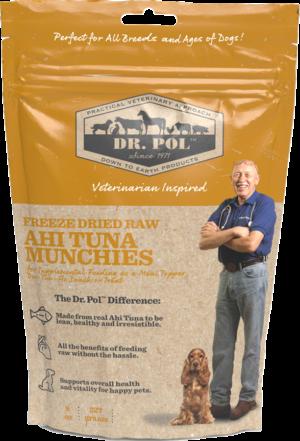 dr pol freeze dried raw ahi tuna munchies